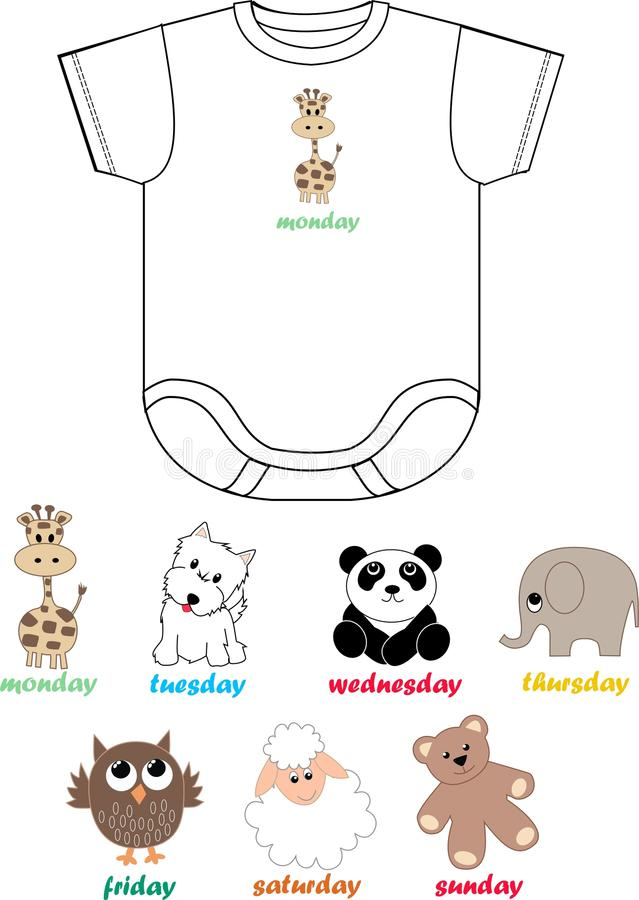 Corpo do bebê para meninas e meninos ilustração royalty free