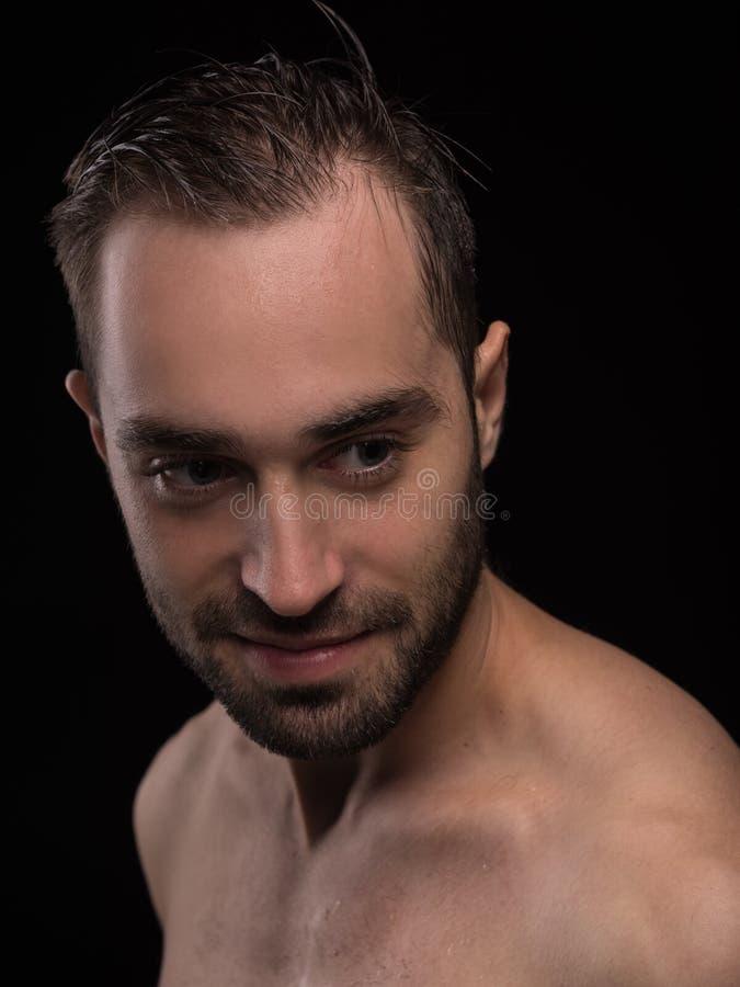 Corpo do homem Retrato do indivíduo novo 'sexy' considerável fotos de stock royalty free