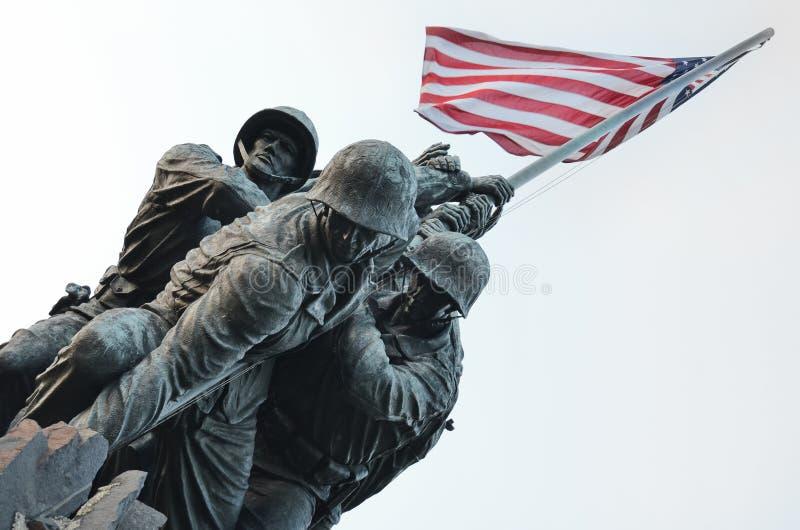 Corpo dos Marines dos E.U. memorável no Washington DC EUA imagens de stock royalty free