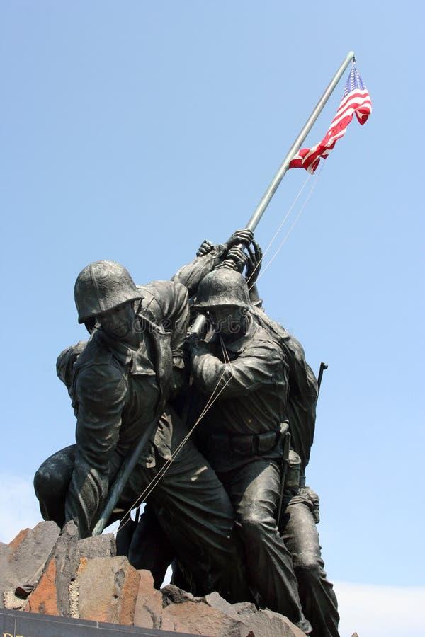 Corpo dos Marines memorável imagens de stock royalty free