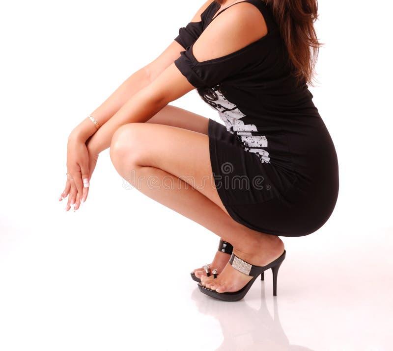 Corpo fêmea elegante fotografia de stock royalty free
