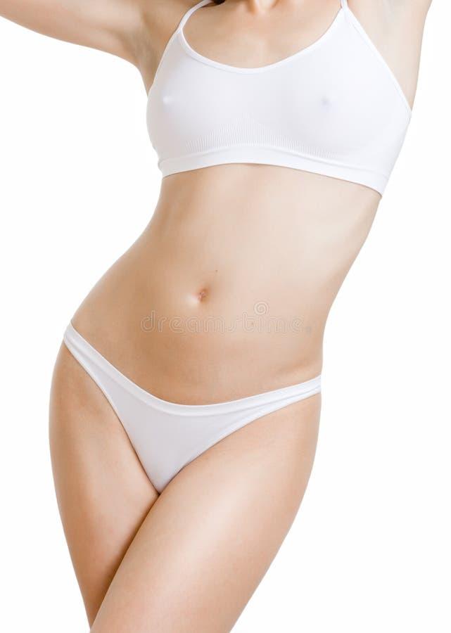 Corpo fêmea magro foto de stock
