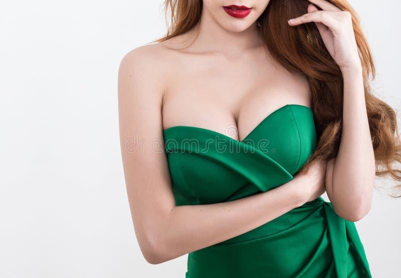 Corpo magro bonito da mulher fotografia de stock