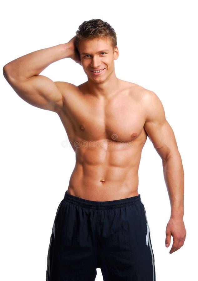 Corpo masculino do treinamento foto de stock