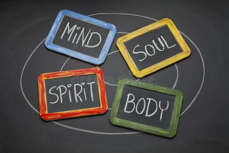 Corpo, mente, anima e concetto di spirito fotografia stock libera da diritti