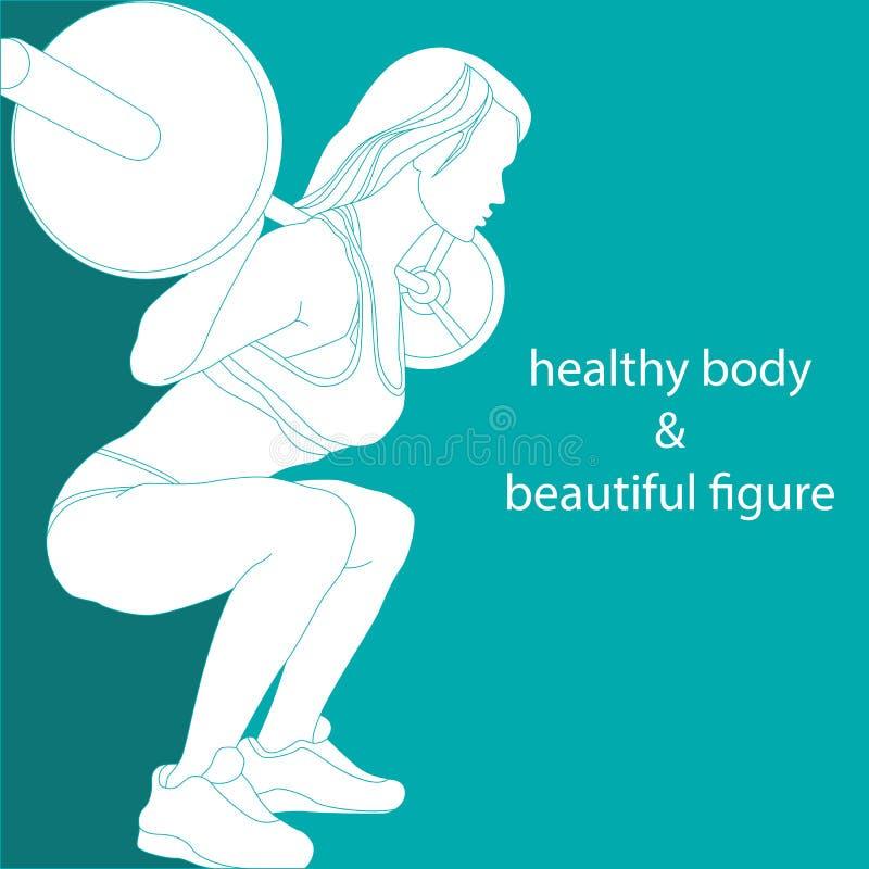 Corpo saudável e figura bonita ilustração royalty free