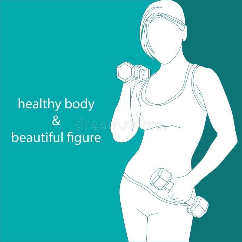 Corpo saudável & figura bonita ilustração royalty free