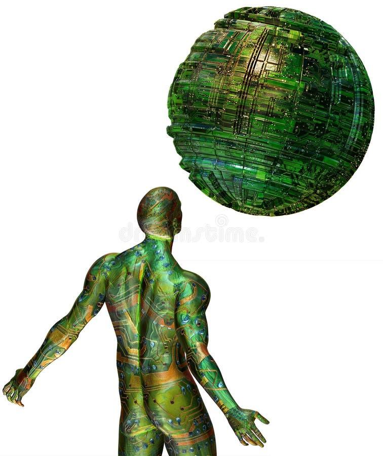 corpo umano di 3D Digitahi illustrazione vettoriale