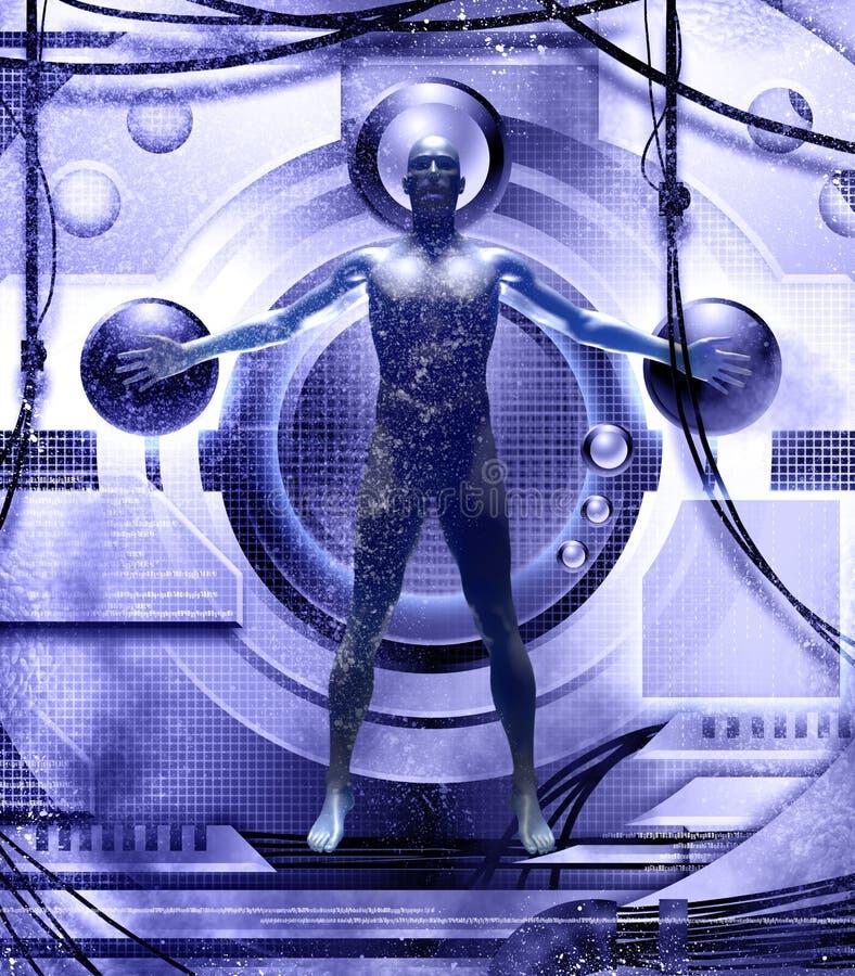 Corpo umano e tecnologia illustrazione di stock