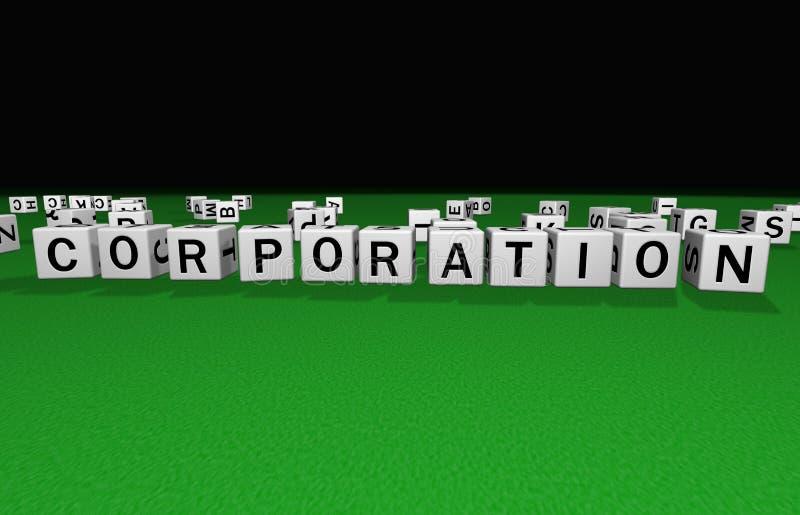 Corporación de los dados ilustración del vector