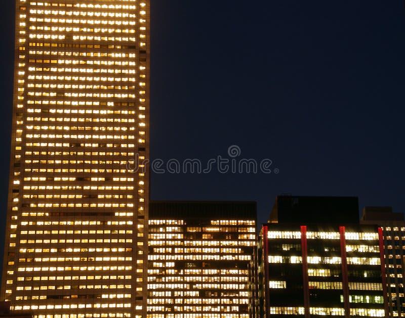 Corporaciones de la noche imagen de archivo libre de regalías