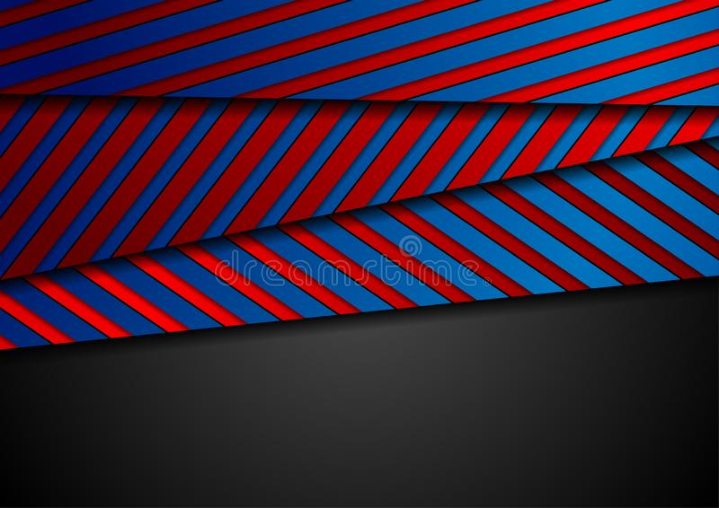 Corporate abstract background with blue red stripes texture stock photos