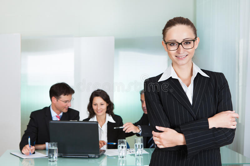 Corporate advancement and leadership stock photography