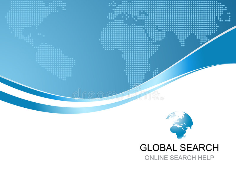 Corporate background with logo of global search. Corporate background template with logo of global search vector illustration