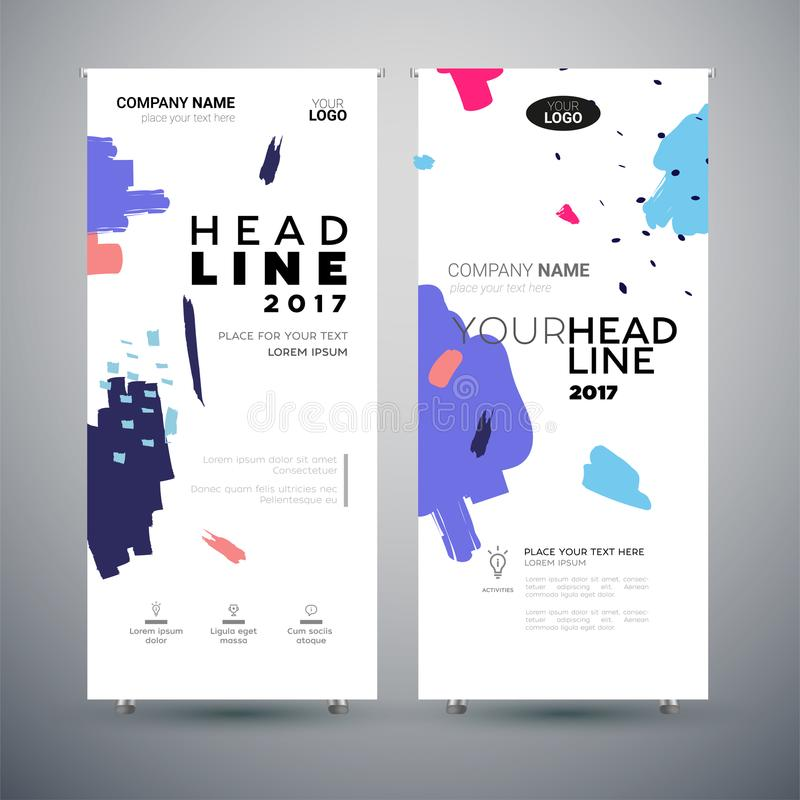 Corporate Banner - set of modern vector template abstract illustrations stock illustration