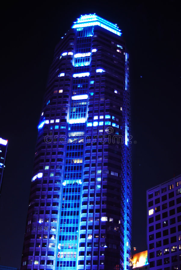 Corporate Blue Building stock photography