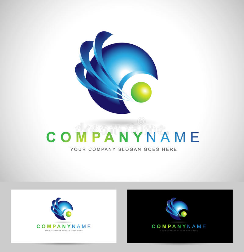 Corporate Blue Sphere vector illustration