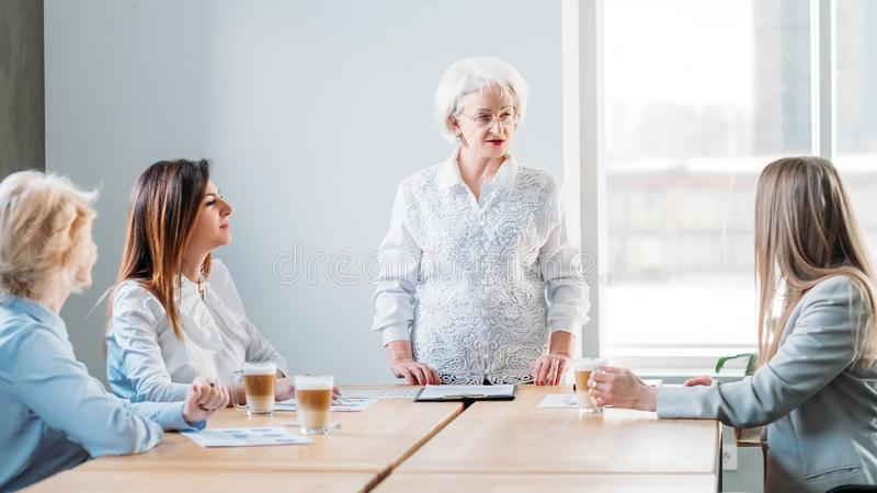 Corporate board senior ceo business executives aim royalty free stock image