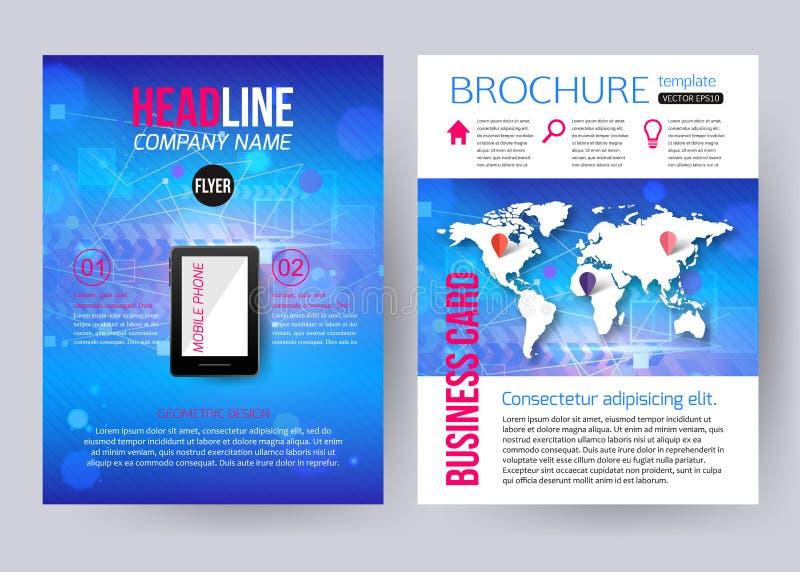 Corporate Brochure Business Geometric Design Stock Vector
