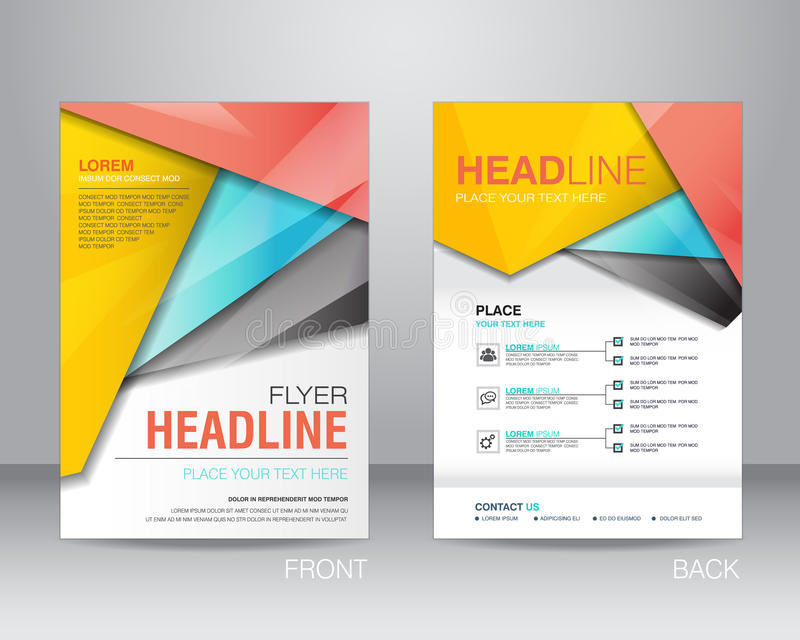 Corporate brochure flyer design layout template in A4 size, with stock illustration