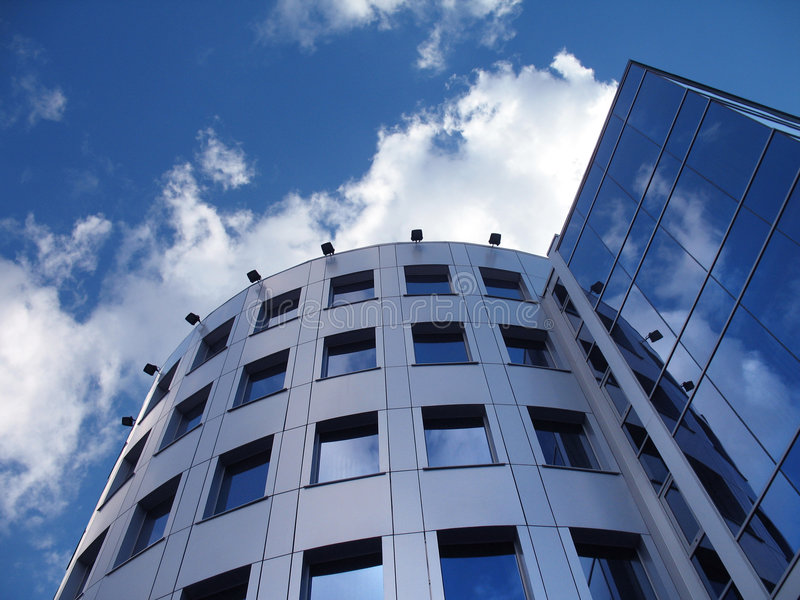 Corporate Building On The Blue Stock Photography