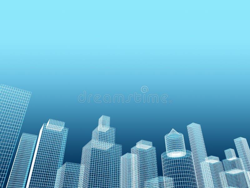 Corporate building real estate vector illustration