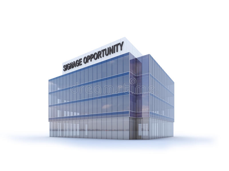 Corporate Building Signage Opportunities royalty free illustration