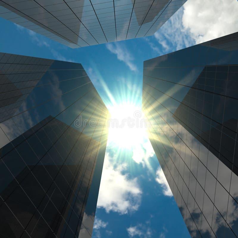 Corporate buildings stock image