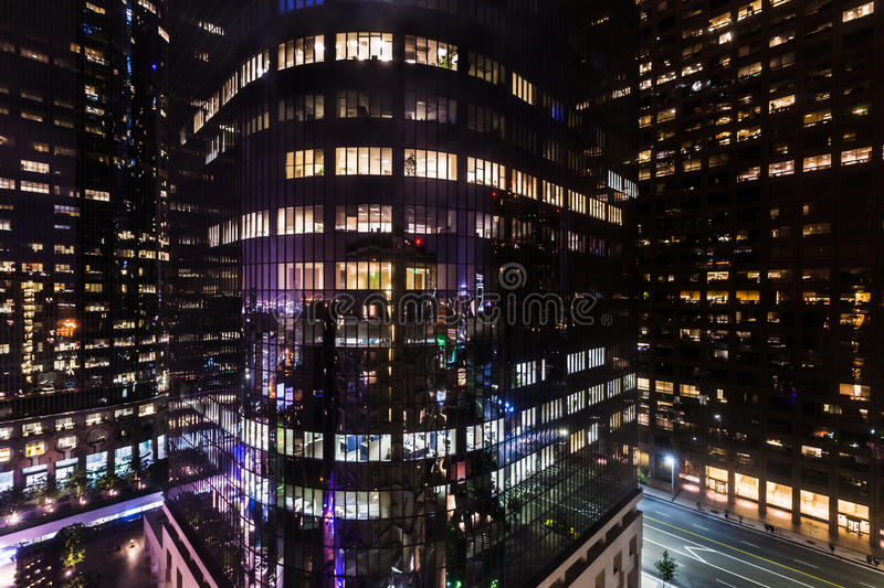Corporate Buildings at Night royalty free stock photo