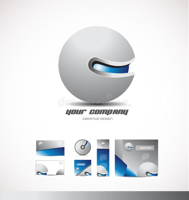Free Corporate Business 3d Logo Sphere Grey Blue Royalty Free Stock Photos - 76506858