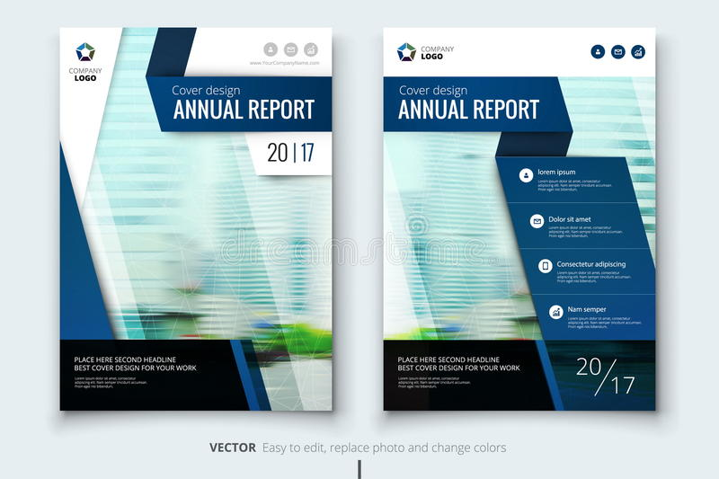Corporate business annual report cover, brochure or flyer design. Leaflet presentation. Catalog with Abstract geometric royalty free illustration