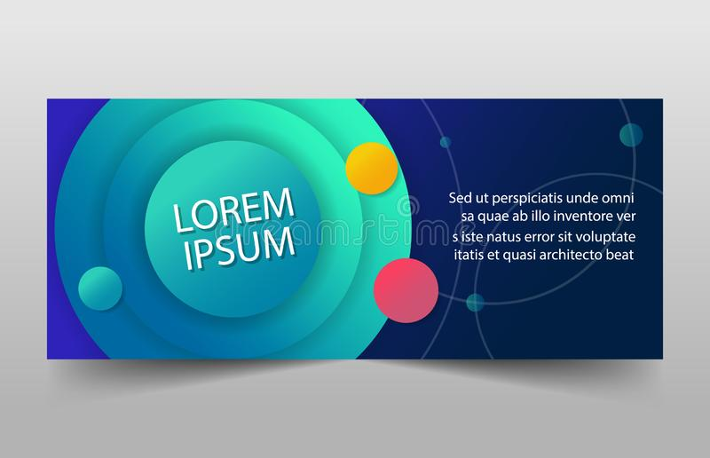 Colorful banner template, horizontal advertising business banner layout template sign set , clean abstract cover header background stock illustration