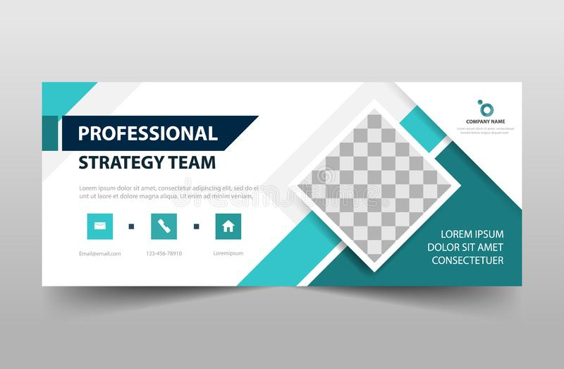 Corporate business banner template, horizontal advertising business banner layout template sign set , clean abstract cover header. Background for website design royalty free illustration