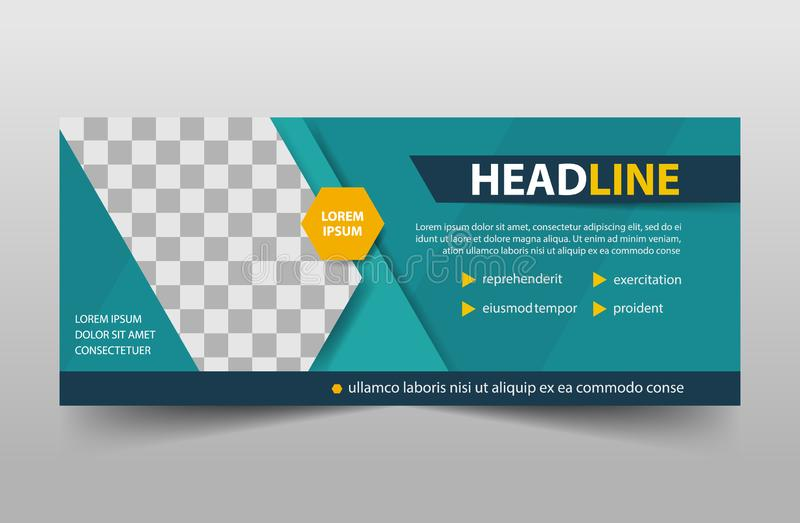 Corporate business banner template, horizontal advertising business banner layout template sign set , clean abstract cover header. Background for website design stock illustration