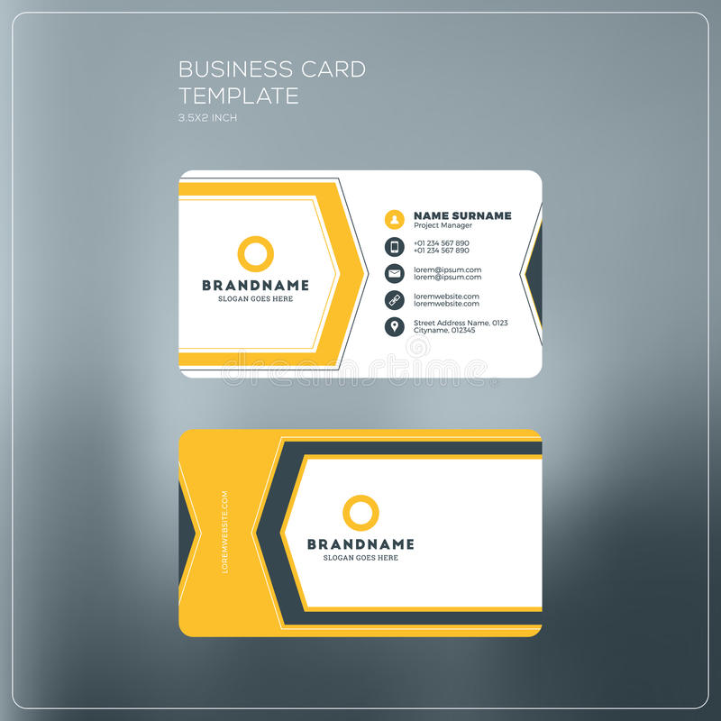 Corporate business card print template personal visiting card stock download corporate business card print template personal visiting card stock vector illustration of black reheart Image collections