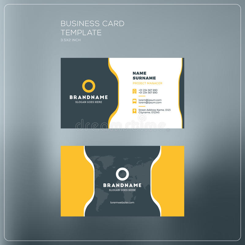 Corporate Business Card Print Template Personal Visiting Card - Personal business cards templates