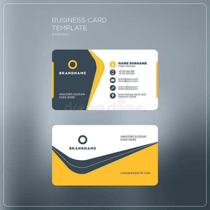 Corporate business card print template personal visiting card stock download corporate business card print template personal visiting card stock vector illustration of flat flashek Image collections