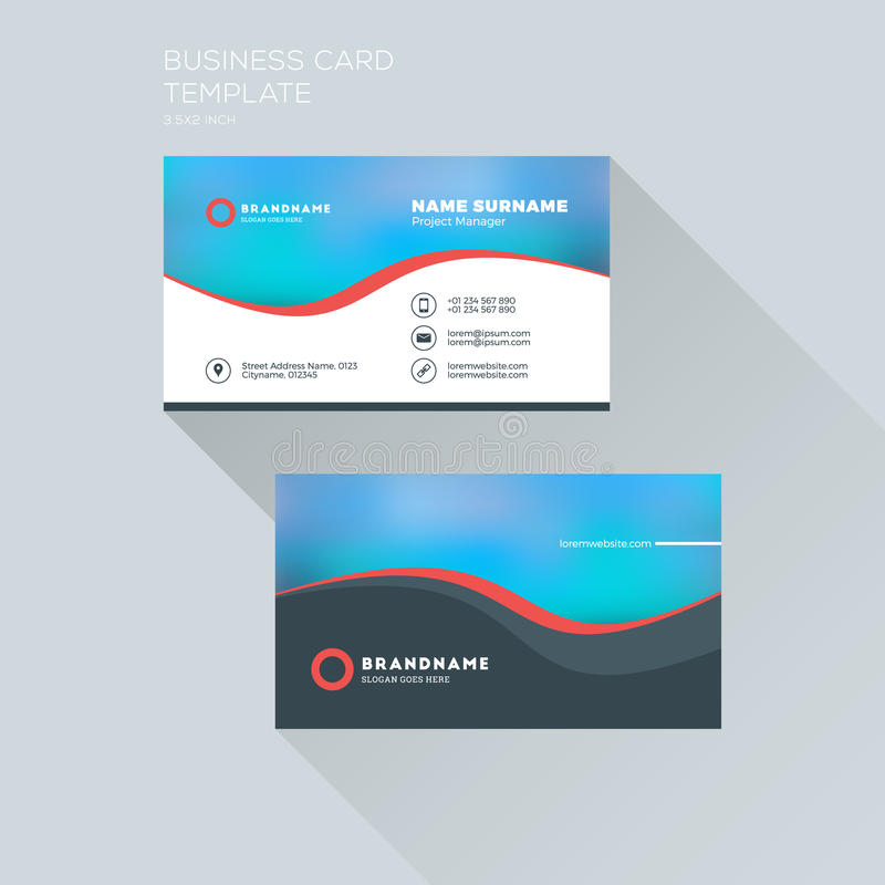 Corporate business card print template personal visiting card stock download corporate business card print template personal visiting card stock vector illustration of creative reheart Image collections