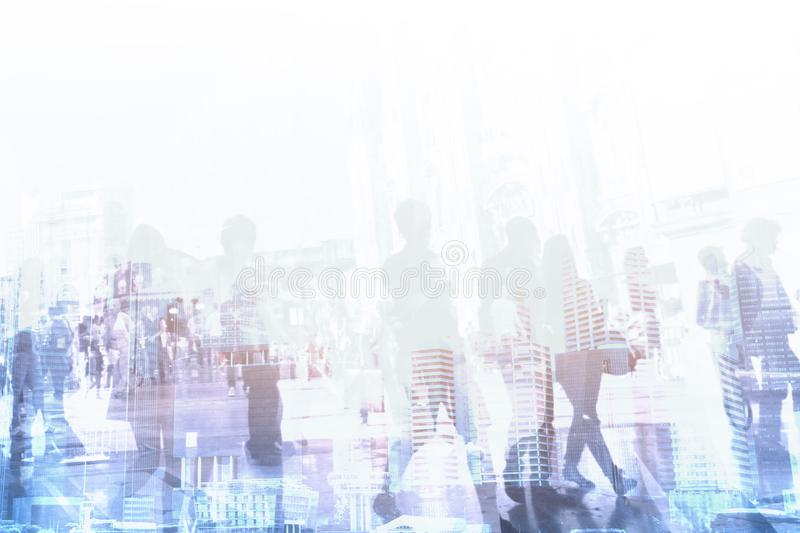 Corporate business company background, abstract crowd of people royalty free stock images
