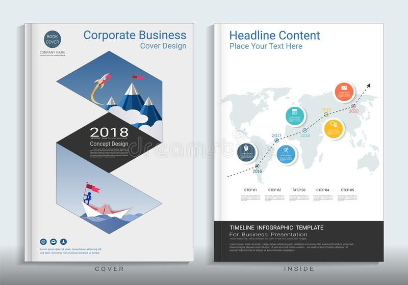 Corporate business cover book design template with infographic download corporate business cover book design template with infographic stock vector illustration of newsletter spiritdancerdesigns Image collections