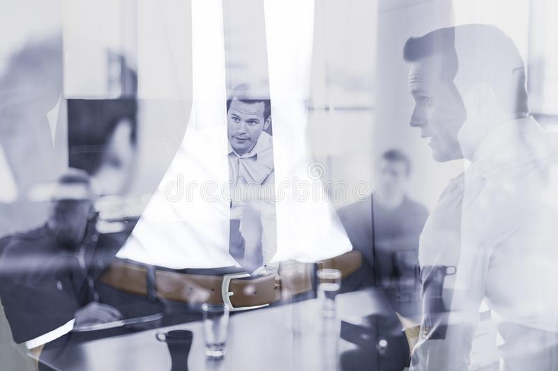 Corporate business, entrepreneurship and business team conceptul collage. stock images