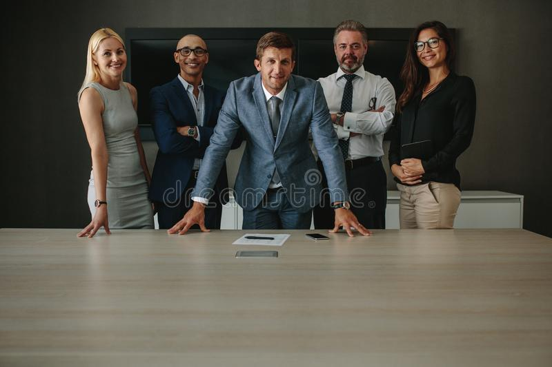 Corporate business group in office board room royalty free stock photography