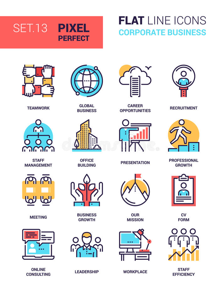 Corporate Business Icons royalty free illustration
