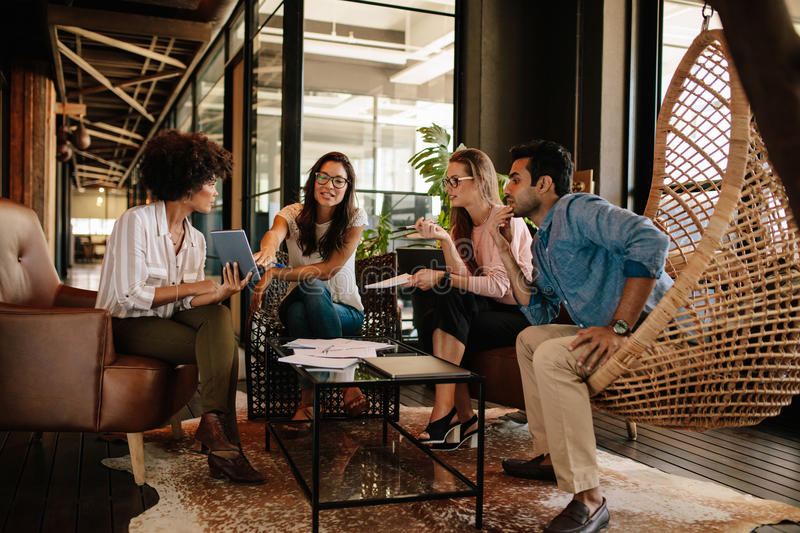 Corporate business team discussing new ideas royalty free stock image