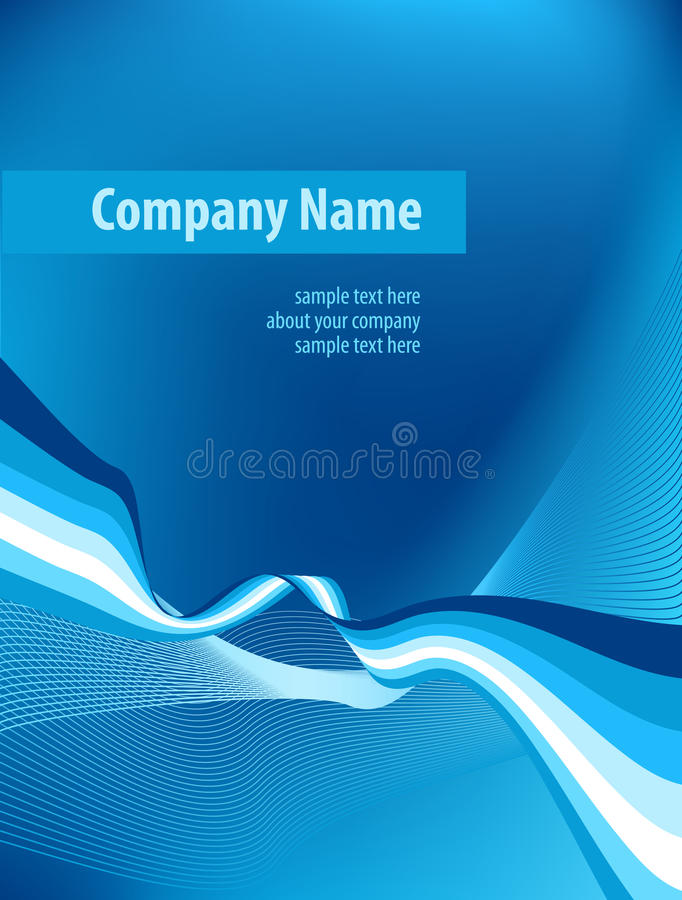 Corporate business template background. Abstract blue background of curve strips. This background is good for applying to covers of corporate documents. Vector vector illustration