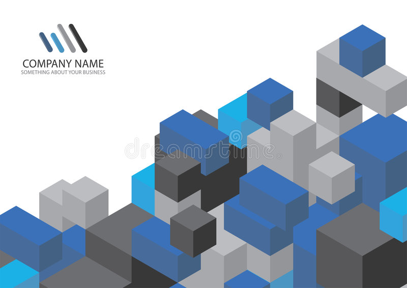Corporate Business Template Background stock illustration