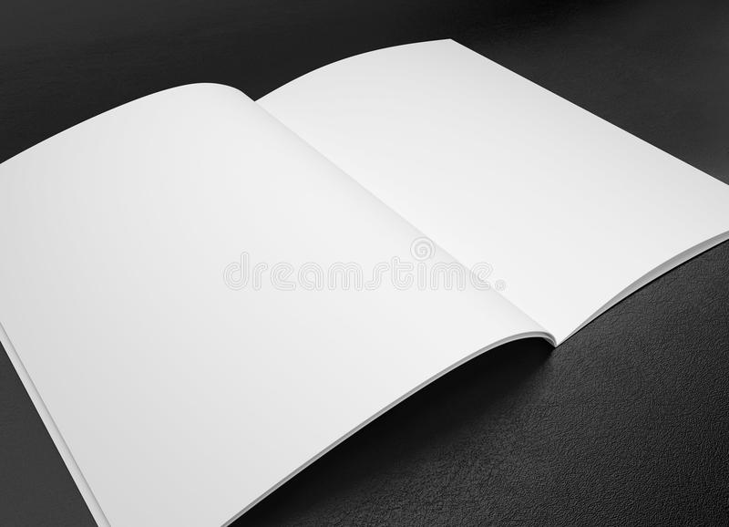 Corporate business template. On black leather background royalty free stock image