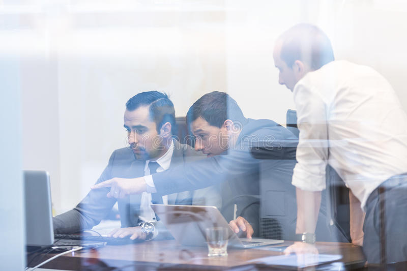 Corporate businessteam working in modern office. royalty free stock photo