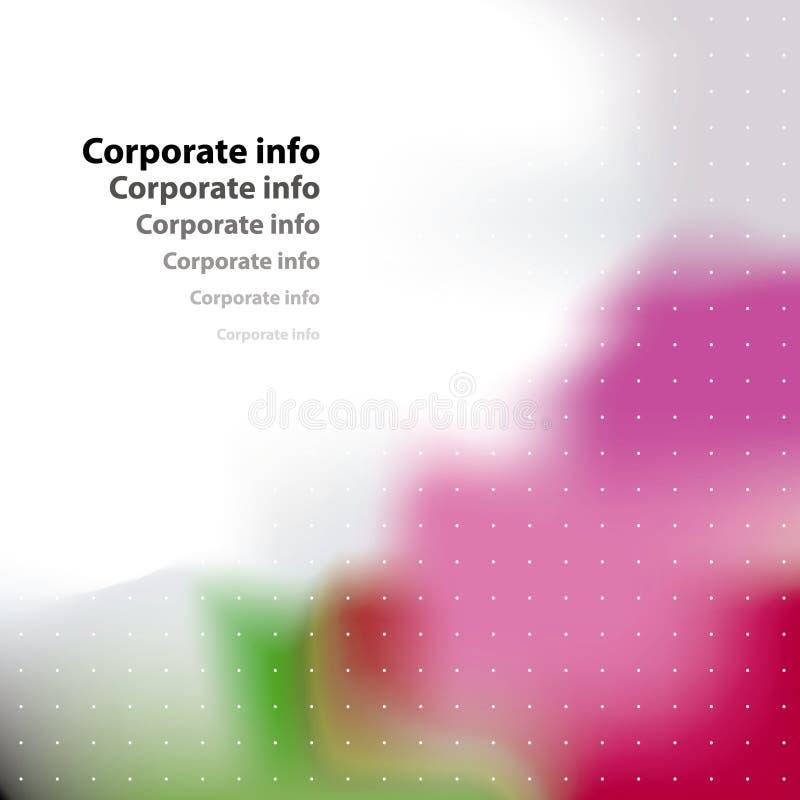 Corporate card. stock illustration