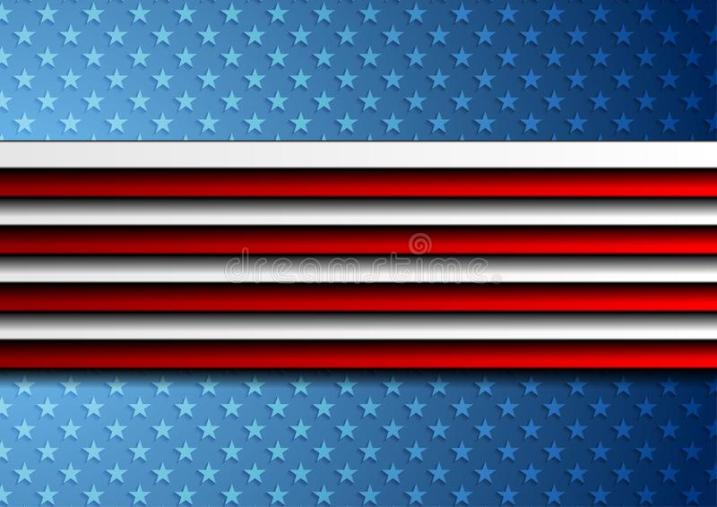 Corporate concept USA flag abstract background vector illustration